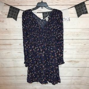 American Rag Floral Ribbed Knit Boho Dress M